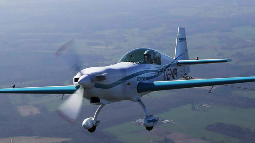 Visual of Sustainable Flying with Electric Planes