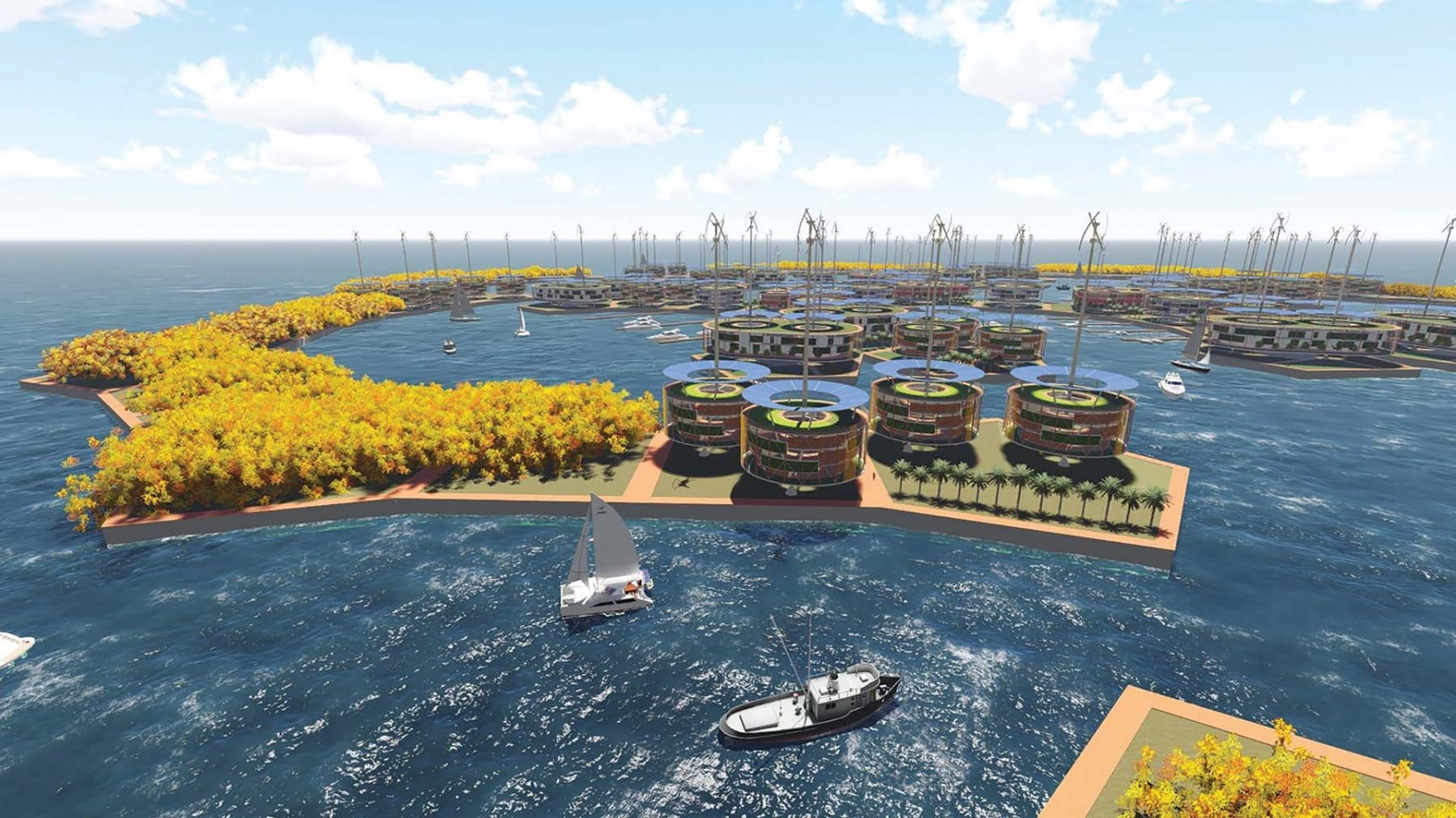 Visual of Living on Water for a Sustainable Planet