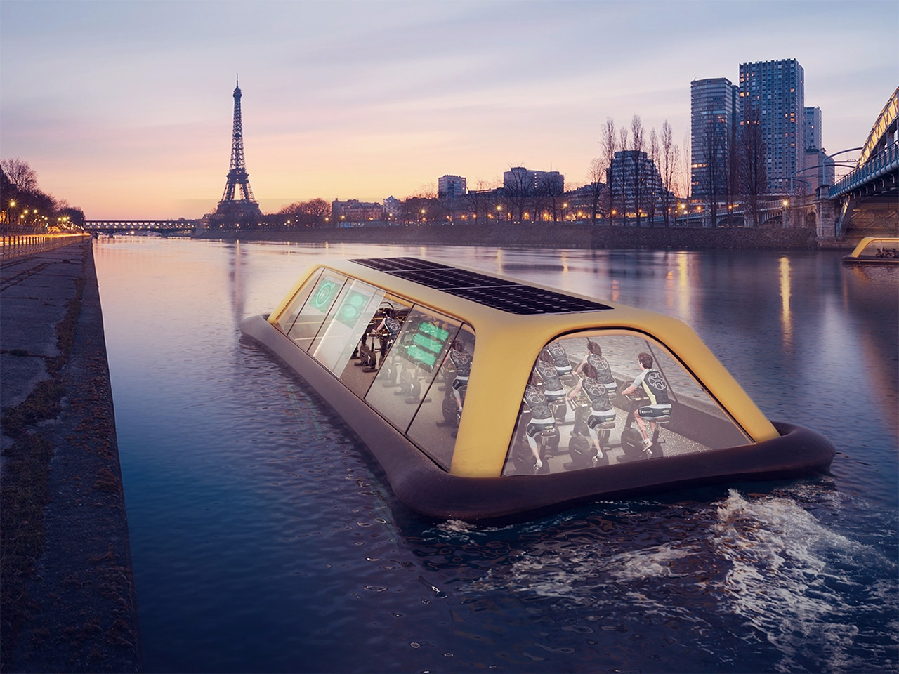 Visual of A Floating Gym in Paris