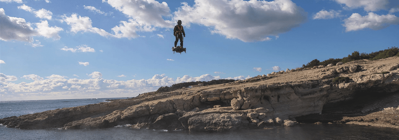 Visual of Hoverboarding Over the Atlantic