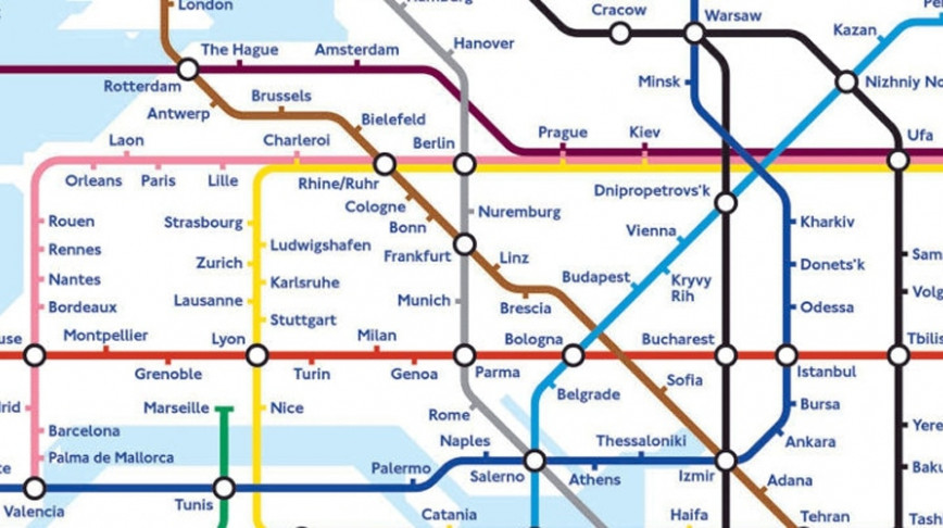 Visual of The Global Subway Map of the Future