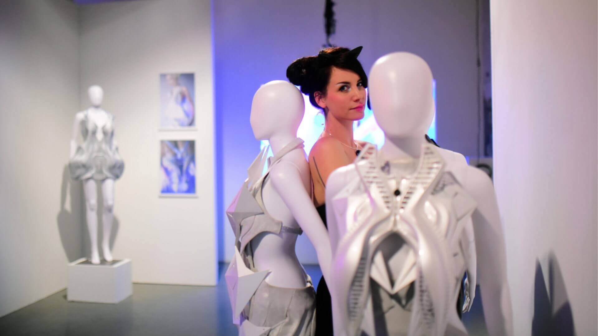 Visual of Designer Anouk Wipprecht combines fashion with robotics
