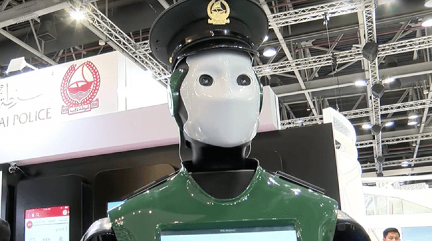 Visual of Dubai Employs First Robotic Police Officer