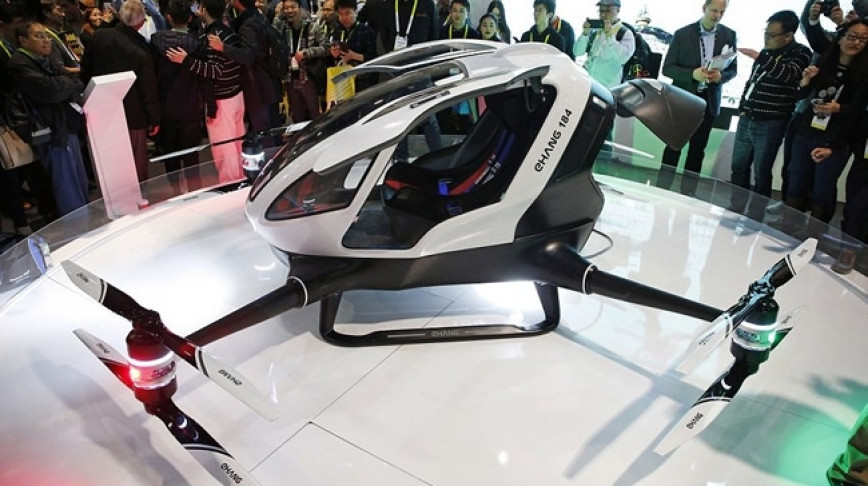 Visual of The Self-Flying Taxi Drone