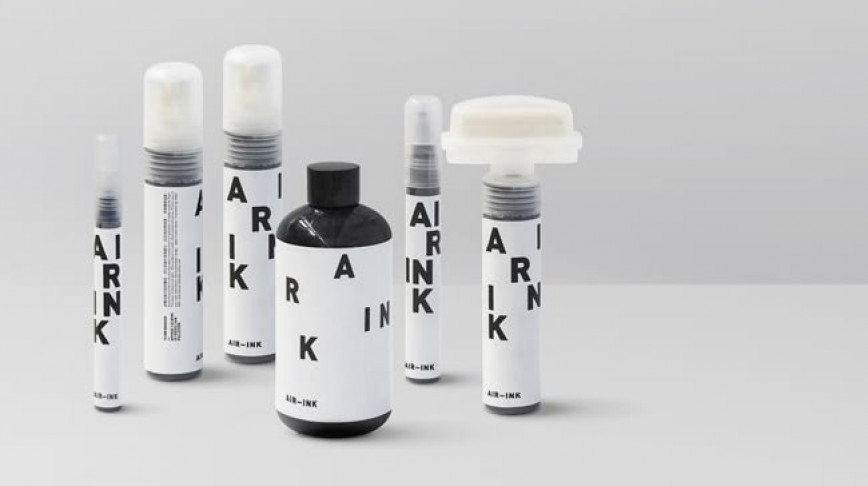 Visual of Turning Air Pollution Into Ink