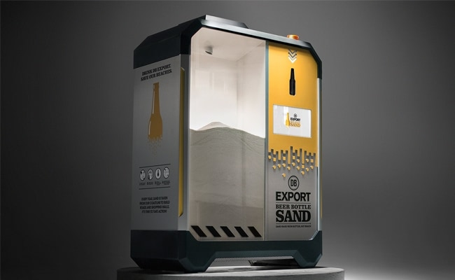 Visual of Turning Glass Bottles into Sand
