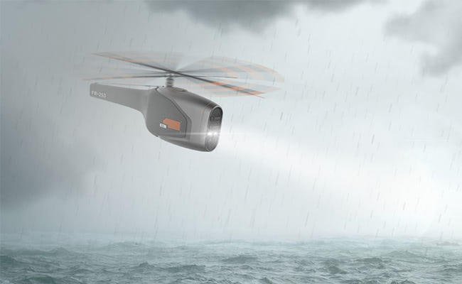 Visual of Rescue Drone Will Save You in Open Water