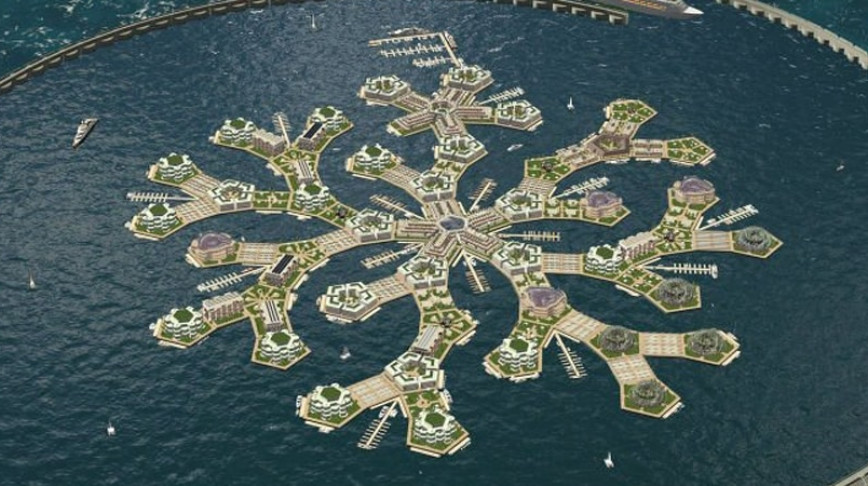 Visual of The World's First Floating City
