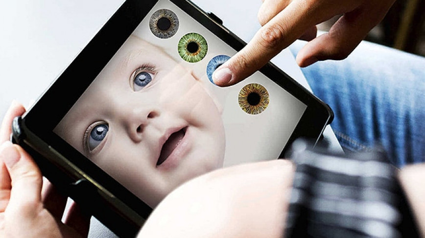 Visual of How AI and genomics will impact the future of making babies