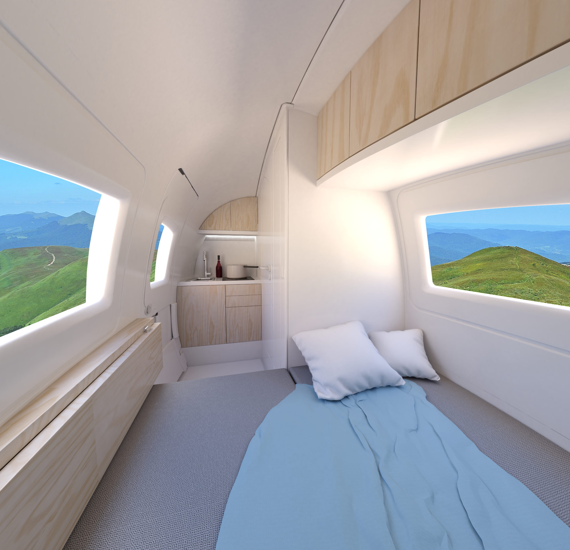 The view from inside one Ecocapsule.