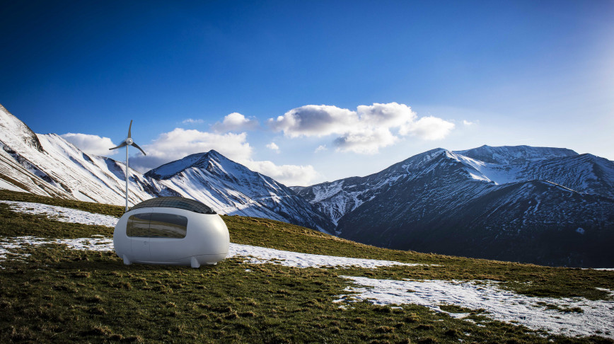 Visual of How this self-sustainable microhome may change the future of housing