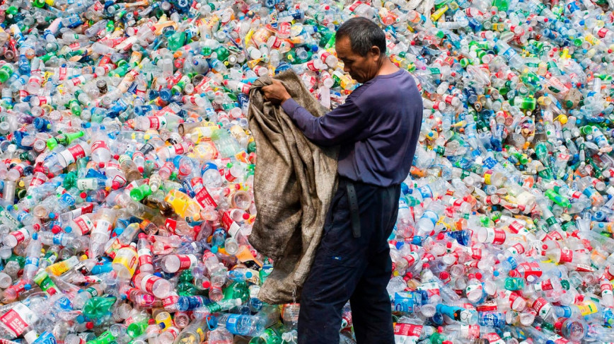 Visual of Scientists accidentally create mutant enzyme that eats plastic bottles