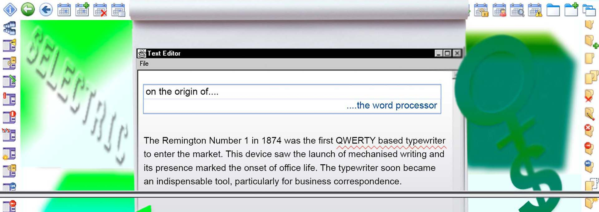 Visual of On the origin of the word processor