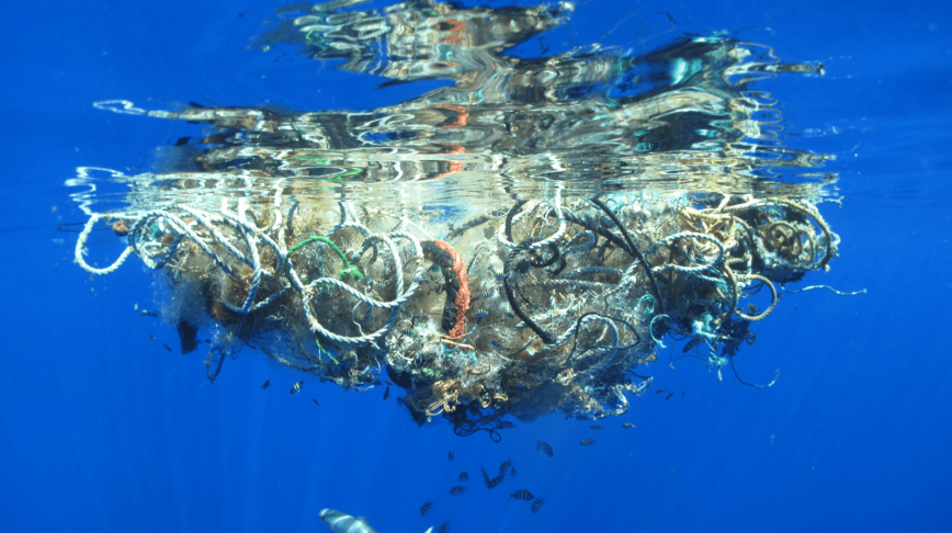 Visual of The Great Pacific garbage
