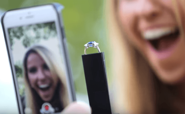 Visual of Proposing with a Phone Case