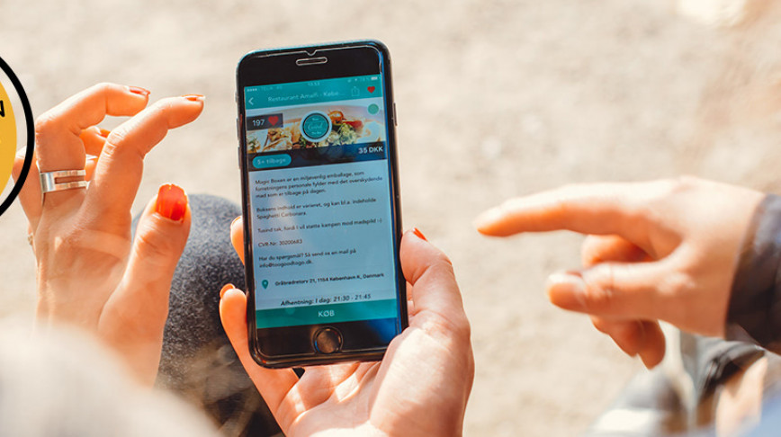 Visual of How an app is helping restaurants cut food waste