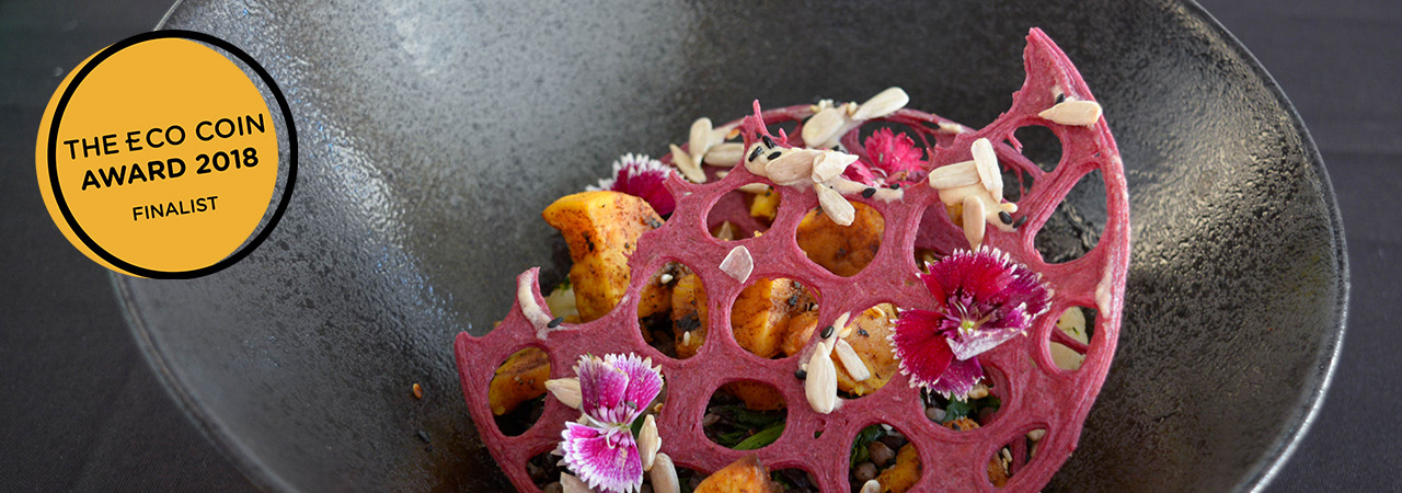 Visual of 3D-printing food waste into tasty products