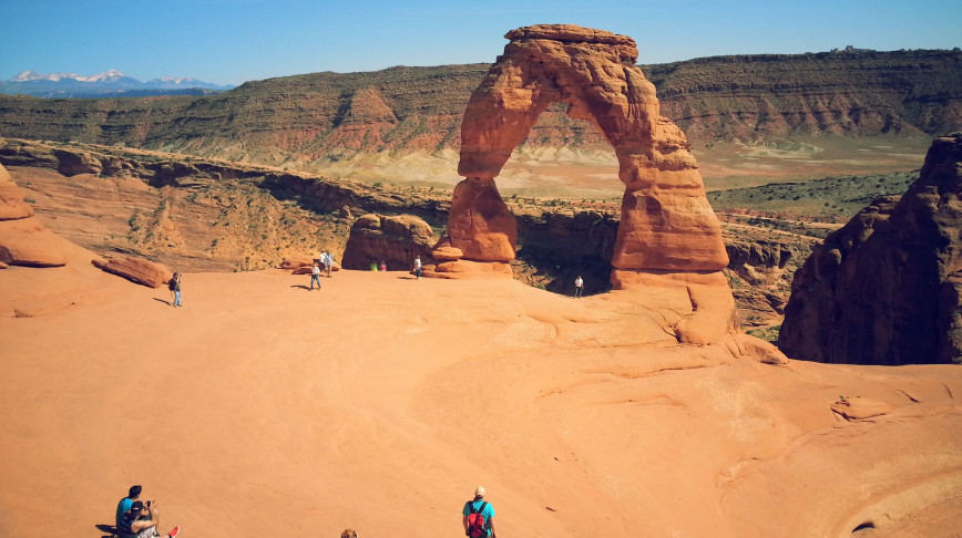 Visual of The Forgotten Plan to Coat Utah's Delicate Arch with Plastic
