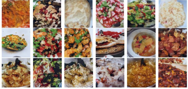 Visual of AI creates images of delicious food that doesn't exist