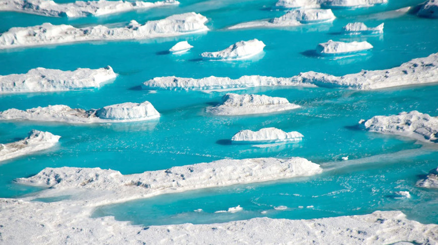 Visual of These are the 'meltwater lakes' of Antartica