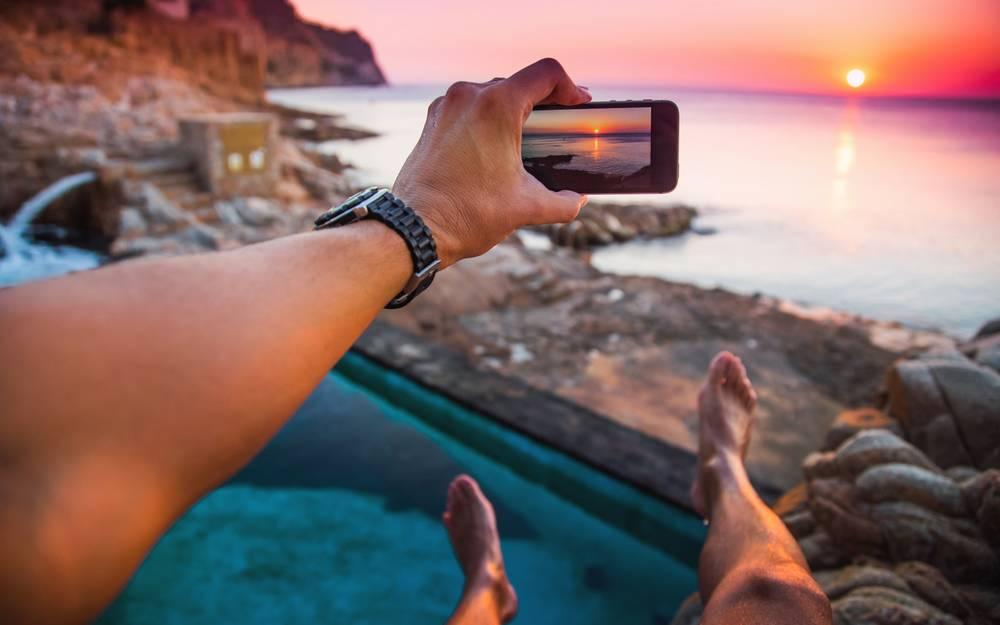 Visual of Swiss hotel chain offers a 'social media sitter' to handle your Instagram while you relax