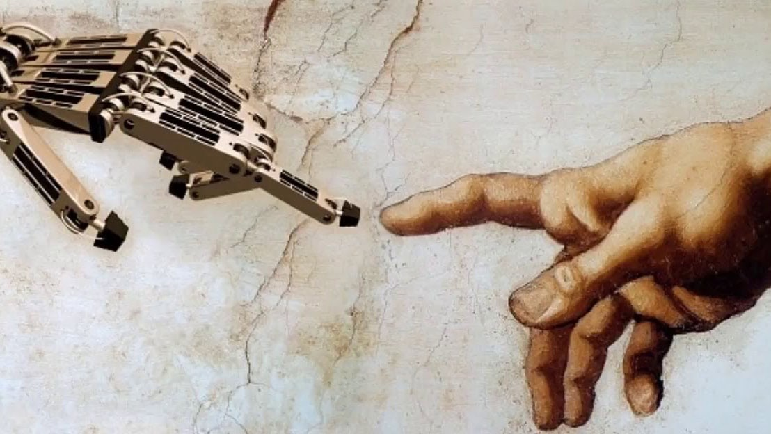 Visual of The religion named Artificial Intelligence