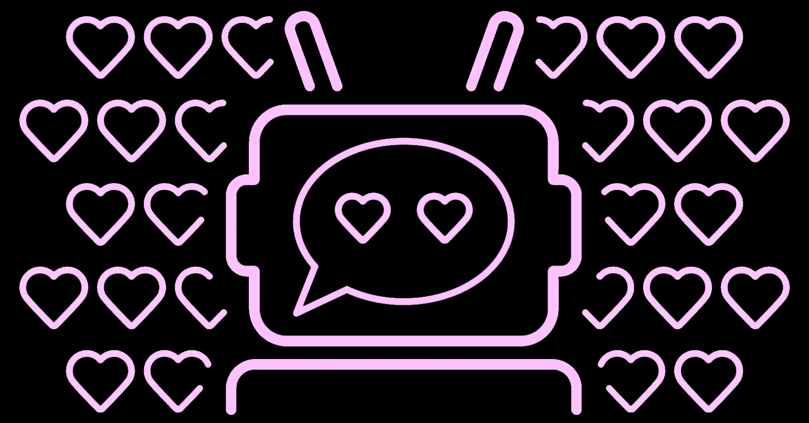 Visual of How my chatbot fell in love with me