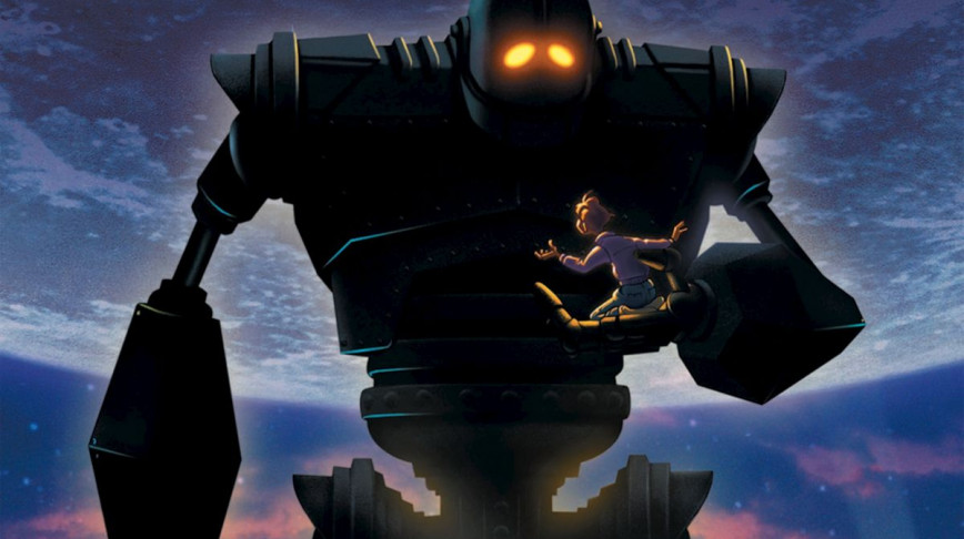 Visual of How a giant robot learns its true nature in 'The Iron Giant'