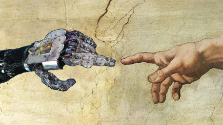 Visual of Cyborg mythologies #3: in god we trust, all others bring data