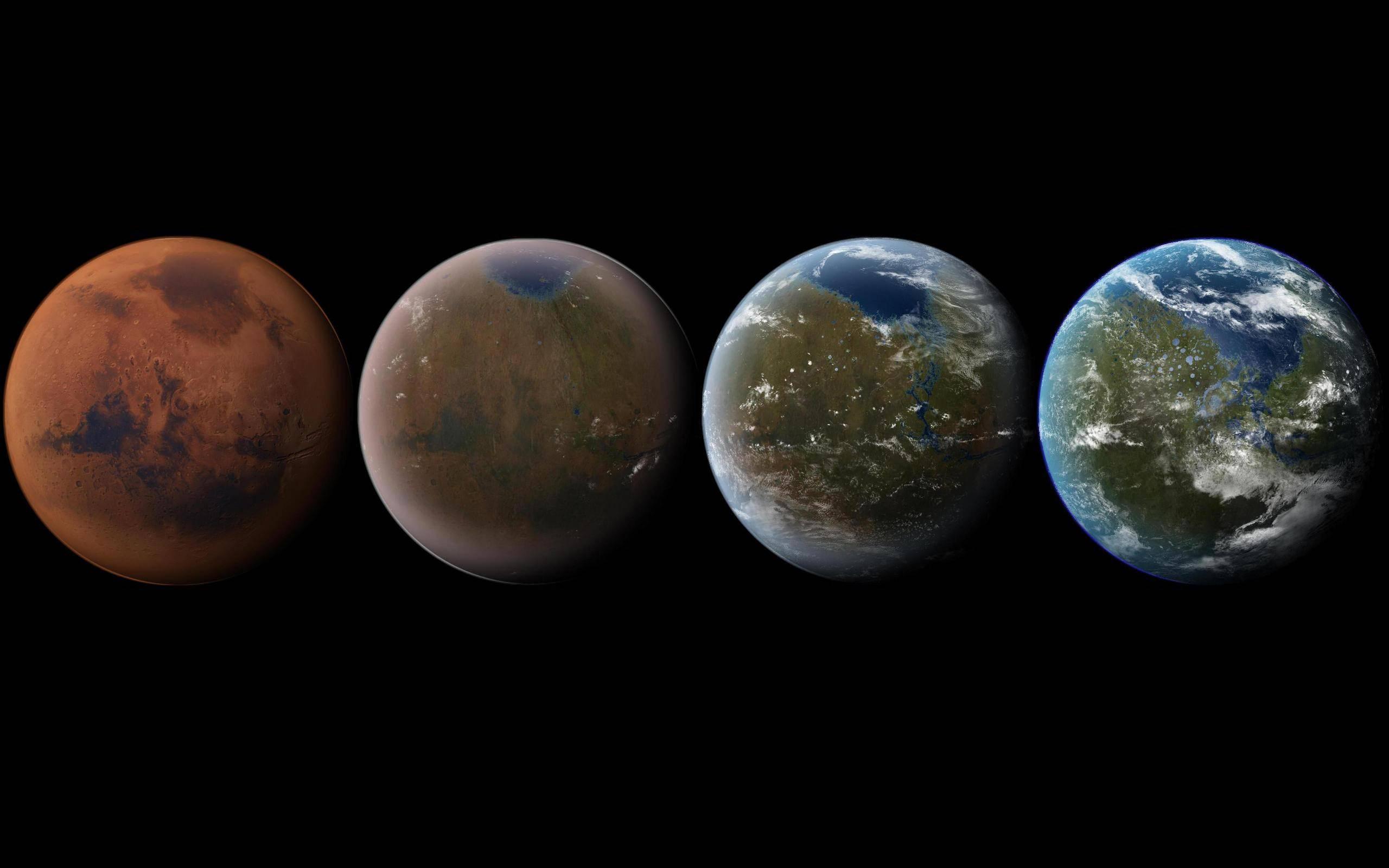 Visual of Terraforming Earth